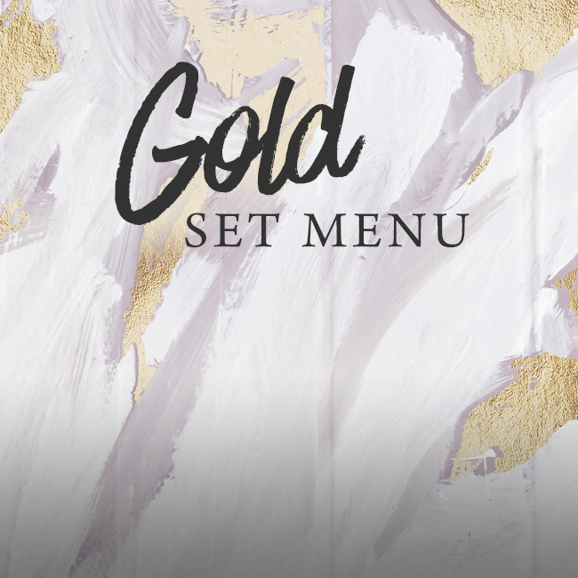 Gold set menu at The White Horse