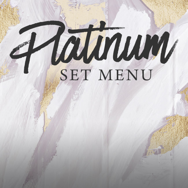 Platinum set menu at The White Horse