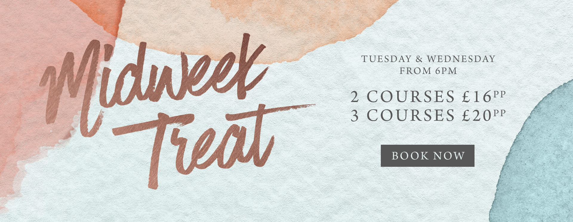 Midweek treat at The White Horse - Book now